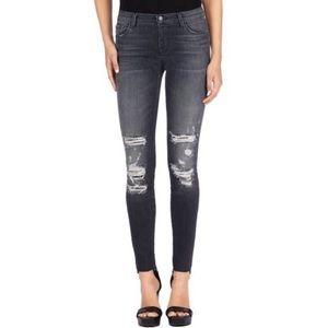 J Brand Distressed Skinny Jeans in Affray